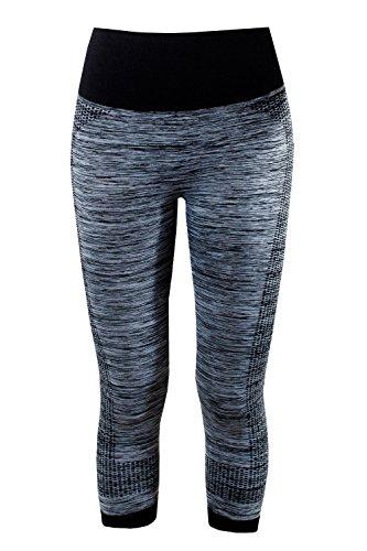 L&K-II Damen Leggings 3/4 Sporthose Strech Fitness Hose 4112 in mehren Farben und Varianten Laufhose
