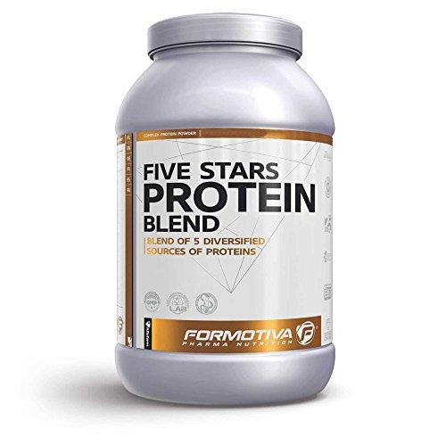 Formotiva Five Stars Protein Blend 2100 g Erdbeere – Whey Isolat und Konzentrat, Beef Hydrolysat, Micellares Casein und Ei-Protein – Nahrungsergänzungsmittel in Pharma-Qualität