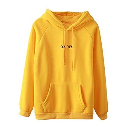 Mdchen-Hoodies-Lange-rmel-Mumuj-Damen-Print-Hoodie-Sweatshirt-Hooded-Frauen-Baumwollmischung-Tasche-Gelb-Kapuzenpullover-Tops-Schule-Schler-Herbst-Winter-Bluse