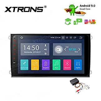 XTRONS-9-Android-Autoradio-mit-Touch-Screen-Android-90-Quad-Core-Full-RCA-Ausgang-Autostereo-untersttzt-3G-4G-Bluetooth50-2GB-RAM-16GB-ROM-DAB-OBD2-TPMS-FR-Porsche
