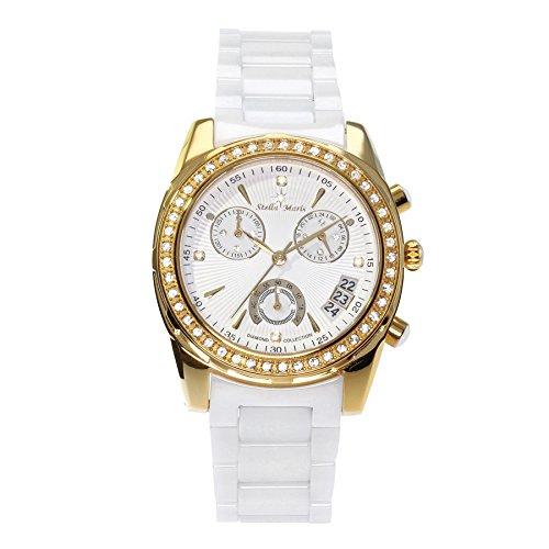 g nstig stella maris damen armbanduhr analog quarz premium keramik diamanten stm15l7 bei uhren. Black Bedroom Furniture Sets. Home Design Ideas
