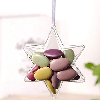 Eillybird-10-Stck-PS-Groe-Sterne-Teilbar-10-cm-DIY-Durchmesser-Durchsichtige-Kugel-Zum-Aufhngen-Transparente-PS-Sphrische-Formen-Zum-Befllen-Aufhngen-Kunststoff-Kugel