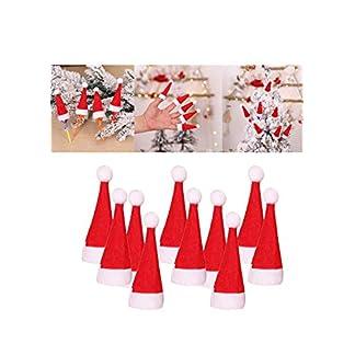 Y56-10-Stck-Mini-Weihnachtsmtzen-4x7cm-Nikolausmtzen-Weihnachtsmann-Mtze-Weihnacht-Nikolaus-10er-Pack