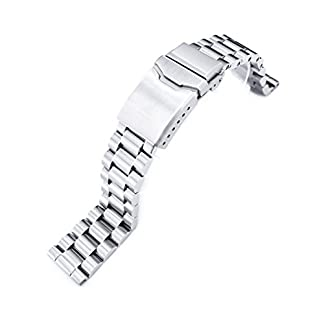 20-mm-Endmill-massiv-316L-Edelstahl-Armbanduhr-Armband-gerade-Ende-Button-Fase