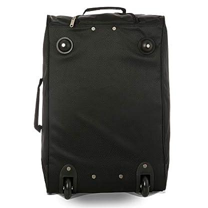 EONO-Essentials-Leichter-21-Rollkoffer-Kabinengepck-Boardgepck-Boardtrolley-Tasche-zugelassen-fr-Ryanair-easyjet-British-Airways-und-mehr-2er-Set-schwarz
