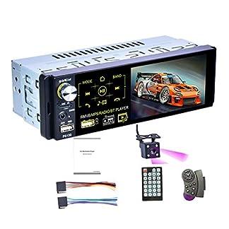 CUHAWUDBA-1Din-Auto-Radio-41-Zoll-Presse-Bildschirm-Audio-Stereo-Multimedia-Mp5-Spieler-AmFmRDS-Radio-Rck-Fahr-Kamera