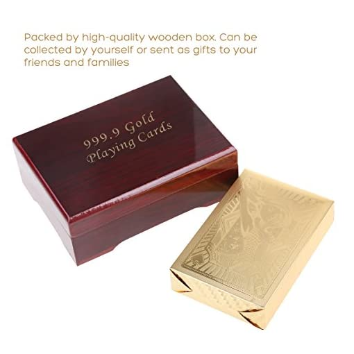 NUOLUX-Poker-Karten-Sexy-Lady-Gold-Folie-Spielkarten-mit-Holzkiste