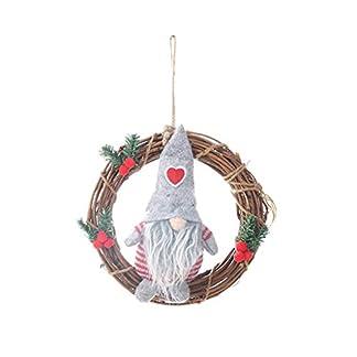 Shenxay-Frohe-Weihnachten-schwedischen-Santa-GNOME-Puppe-Ornamente-hngen-Girlande-Rattan-Ring-Urlaub-Home-Party-Neujahr-Dekoration