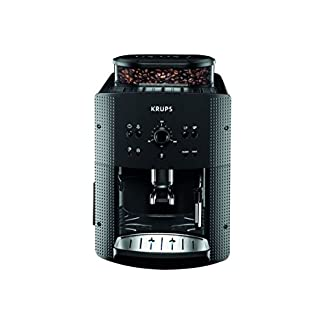 Krups-Espressomaschine-EA-810B-17-l-Farbe-Schwarz-Kaffeevollautomat-freistehend-integriertes-Mahlwerk-1450-W-Titan