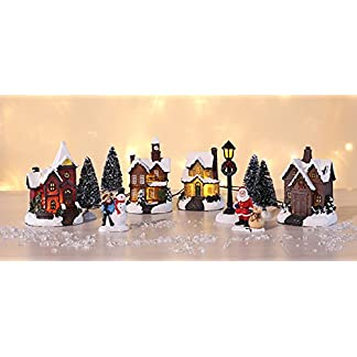 Weihnachtsstadt-mit-Schneedekoration-Weihnachtsdorf-LED-Lichthuser-3D-Weihnachtsszene-Dekoration-Weihnachten