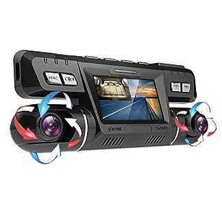 YOUANDMI-Dashcam2160P-UHD-GPS-WiFi-Vorne-und-Hinten-Dual-Kamera-170-Grad-Weitwinkel-Dashcam-Auto-mit-WDR-Sony-Nachtsicht-LensBewegungserkennungAudioG-Sensor