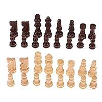 B-Blesiya-32pcs-Hlzerne-Schachfiguren-Schachspiel-Figuren-Geschenk-fr-Freunde-und-Kinder