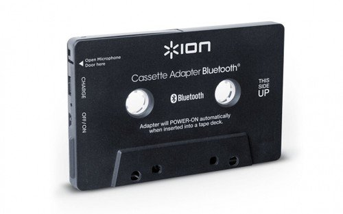 ION-Audio-Cassette-Adapter-Bluetooth-Kassettenadapter-mit-Bluetooth-Musik-Empfnger-fr-Kassettendecks-mit-eingebautem-Mikrofon-fr-den-Einsatz-als-Freisprechanlage-Schwarz