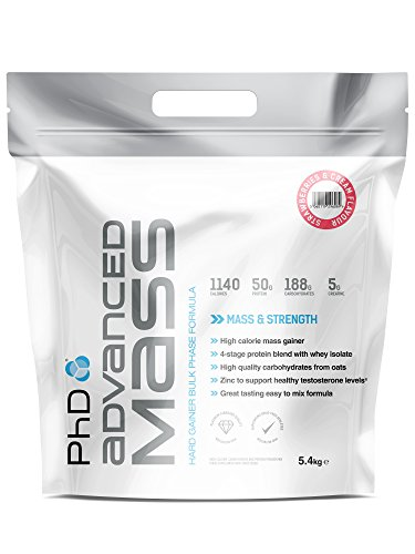 PhD Nutrition Advanced Mass 4.5 Kg Strawberries und Crème, 1 Stück