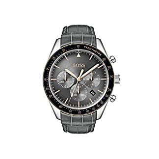 Hugo-Boss-Watch-Herren-Chronograph-Quarz-Uhr-mit-Leder-Armband-1513628