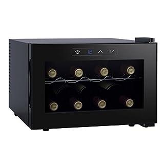 Melissa-Wein-Khler-Deluxe-fr-8-Flaschen-Getrnke-Khlschrank-schwarz-mit-LED-Display-Energieklasse-AEnergieklasse-A