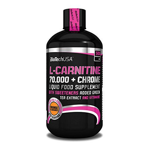 Biotech USA L-Carnitine 70.000 + Chrome 500 ml Carnitine – Orange