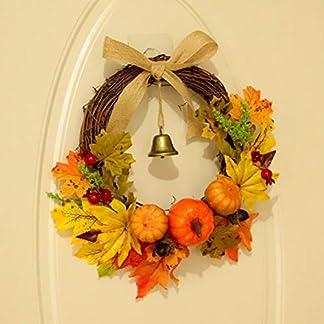 HELEVIA-Herbst-Deko-Simulierter-Krbis-Ahornblatt-Kranz-Autumn-Wreath-Wall-Garland-Herbstkranz-Trkranz-Weihnachtskranz-Wandschmuck-Dekoration-fr-Halloween-Thanksgiving-Weihnachten
