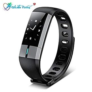 QILade-Yzcing-Fitness-Tracker-Smart-Armband-mit-Herzfrequenz-Monitoring-Blutdruckmessgert-Smart-Uhr-Schrittzhler-Aktivitt-Sports-Tracker-Bluetooth-fr-Android-iOS