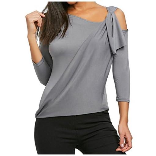 mumuj-damen-pullover-tops-Damen-Bluse-Mumuj-Fashion-Frauen-Unregelmige-Hals-Off-Schulter-Tops-Mdchen-Siebenviertel-rmel-Freizeit-Oberbekleidung-Herbst-Winter-Atmungsaktiv-T-Shirt-Hemd
