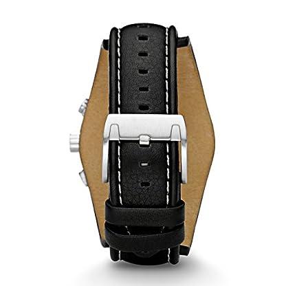 Fossil-Herren-Armbanduhr-wasserdicht-Coachman-mit-schwarzem-Lederarmband-blauem-Mineralglas-Lederband-Uhr-mit-Chronographen-Funktion-Datumsanzeige-Tachymeter