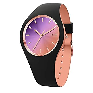 Ice-Watch-ICE-duo-chic-Black-purple-Schwarze-Damenuhr-mit-Silikonarmband-016982-Medium