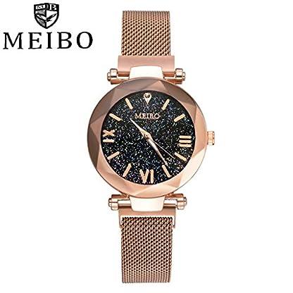 Armbanduhr-damen-Liusdh-Uhren-Einfache-Quarz-Edelstahl-Meshband-Faltschliee-mit-Sicherheits-Quarz-Business-Geschenk-Uhr