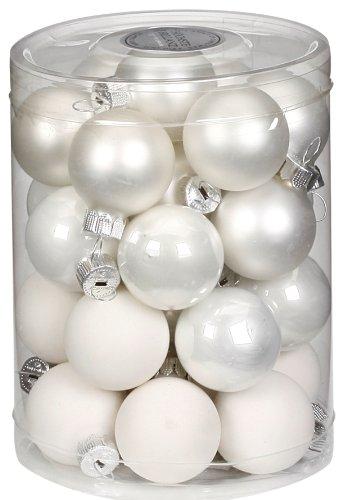 Inge-Glas-15112D001-Kugel-30-mm-28-StckDose-Just-white-Mixweissporzellanweiss