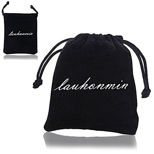 Lauhonmin Freundschaftsarmbänder mit zwei Herzhälften, für beste Freundinnen/Freunde, Geschenk, 2 Stück
