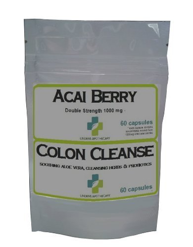 Acai Berry Beere + Darmreiniger Colon Cleanse Kombination verpacken – 1 Monatspackung