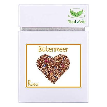 TeaLaVie-Rooibos-Tee-lose-Bltenmeer-Zitrone-mit-Grapefruit-edle-Teedose-fr-Teeliebhaber-ideal-fr-Dankeschn-Geschenke-100g-Dose-loser-Rotbusch-Tee-aus-Sdafrika