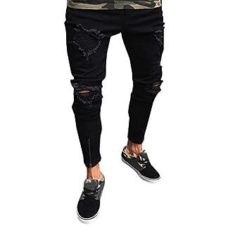 Ansenesna-Hose-Herren-Sommer-Jeans-Lang-Eng-Zerrissen-Freizeithose-mit-Reiverschluss-Mnner-Denim-Destroyed-Outdoor-Hosen-Schwarz