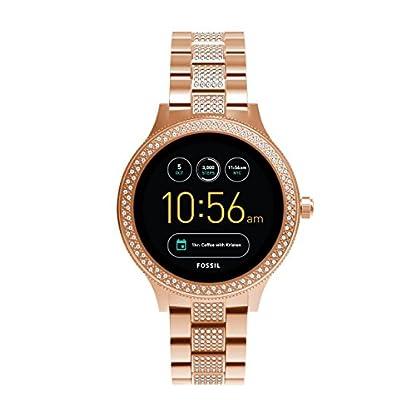 Fossil-Damen-Smartwatch-Q-Venture-3-Generation-EdelstahlStylische-Uhr-mit-Smartfunktionen-Verziert-mit-GlitzersteinenFr-Android-iOS
