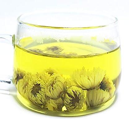 Echter-Hangzhou-100g-022LB-Chrysantheme-Blumen-Tee-aromatischer-blhender-Tee-kruter-tee-duftender-Tee-Blumentee-Botanischer-Tee-Krauttee-Grner-Tee-Roher-Tee-Blumentee-chinesischer-Tee