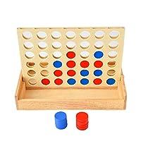 Vier-Gewinnt-Spiel-Schach-Gummi-Holzkiste-Mehrfarbig-4-Verbinden-Sie-In-Einer-Reihe-Schach-Fr-Eltern-Kind-Erziehung
