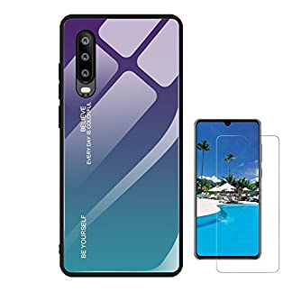 Finemoco-Ultra-Dnner-Hlle-Gehrtetes-Glas-Handyhlle-fr-Huawei-P30
