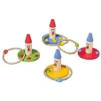 Playtive-Junior-Wurfspiel-Set-12-teilig-aus-Echtholz-4-Spielfiguren-8-Wurfringe