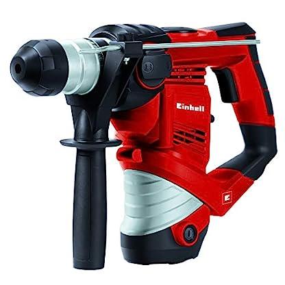 Einhell-Bohrhammer-Set-TC-RH-900-900-W-3-J-Bohrleistung-in-Beton–26-mm-SDS-Plus-Aufnahme-inkl-12-tlg-Bohr-und-Meielset-im-Koffer