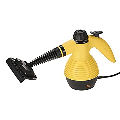GUORZOM-Hand-Dampfreiniger-Home-Groe-Kapazitt-Druckdampfreiniger-mit-9-Teiligen-Zubehr-Fr-Fleckenentfernung-Teppiche-Vorhnge-Bett-Bug-Control-Autositze-Gelb