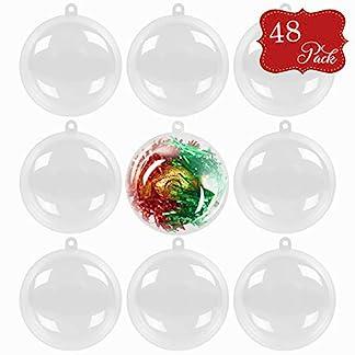 48pcs-Acrylkugeln-Weihnachtskugeln-6cm-Transparent-Plastikkugeln-Zum-Befllen-Perfekt-Fr-Weihnachten-Kunsthandwerk-Partygeschenke-Hochzeitsfeiern