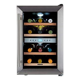 MEDION-Weintemperierschrank-21-34-Liter-Weinkhlschrank-fr-8-12-Flaschen-freistehend-7-18-C-Grad
