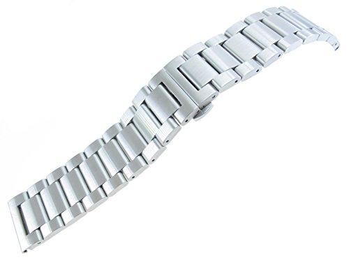 jrrs7777-24-mm-massiv-Edelstahl-Armbanduhr-Armband-silberfarben-gebrstet-NEU-Band