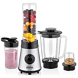 3in1-Standmixer-Smoothie-Maker-Kaffeemhle-Smoothie-to-go-Mixer-Universal-Mixer-Glas-Behlter-Universal-Power-Mixer-24000-Umin-Edelstahl-800ml-600ml-300ml-Behlter-BPA-FREI
