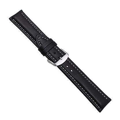 Uhrbanddealer-Herren-Uhrenarmband-XL-Chrono-Leder-22mm-extra-lang-Schwarz-Weie-Kontrastnaht-1648221s