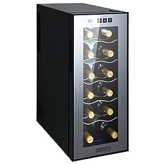 Weinkhlschrank-33-Liter-12-Flasche-Weinkhler-Weinklimakhlschrank-Mini-Khlschrank-Minibar-mit-Glastr-LED-Beleuchtung