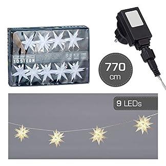 Stern-Lichterkette-mit-9-LED-Sternen-Lichterkette-fr-Innen-Auen-Lichterkette-Strom-betrieben-mit-3D-Sternen