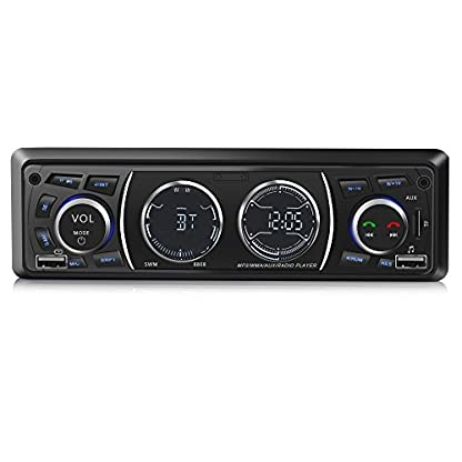 Ironpeas-Autoradio-mit-Bluetooth-FreisprecheinrichtungUSBMP3FMWMATF-Media-Player-FernbedienungSingle-Din-Universal-Autoradio