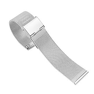 Super-Edelstahlgewebe-Uhrenarmband-milanese-Schleife-Ersatzmetall-Uhrenarmband