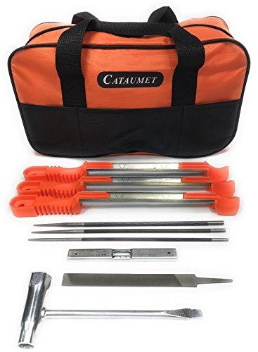 Cautamet-Motorsge-Sharper-File-Kit-enthlt-532-316-732-mit-rutschfeste-Griffe-schrfen-Fhrungen-Tiefenmesser-flache-Datei-Kettensge-Schlssel-groe-Feldtasche