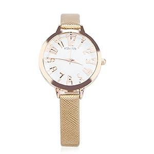 Smileyes-Damenuhr-Leder-Armband-Kupfer-Armbanduhr-Quarz-Analog-Uhr-TSW014L01A